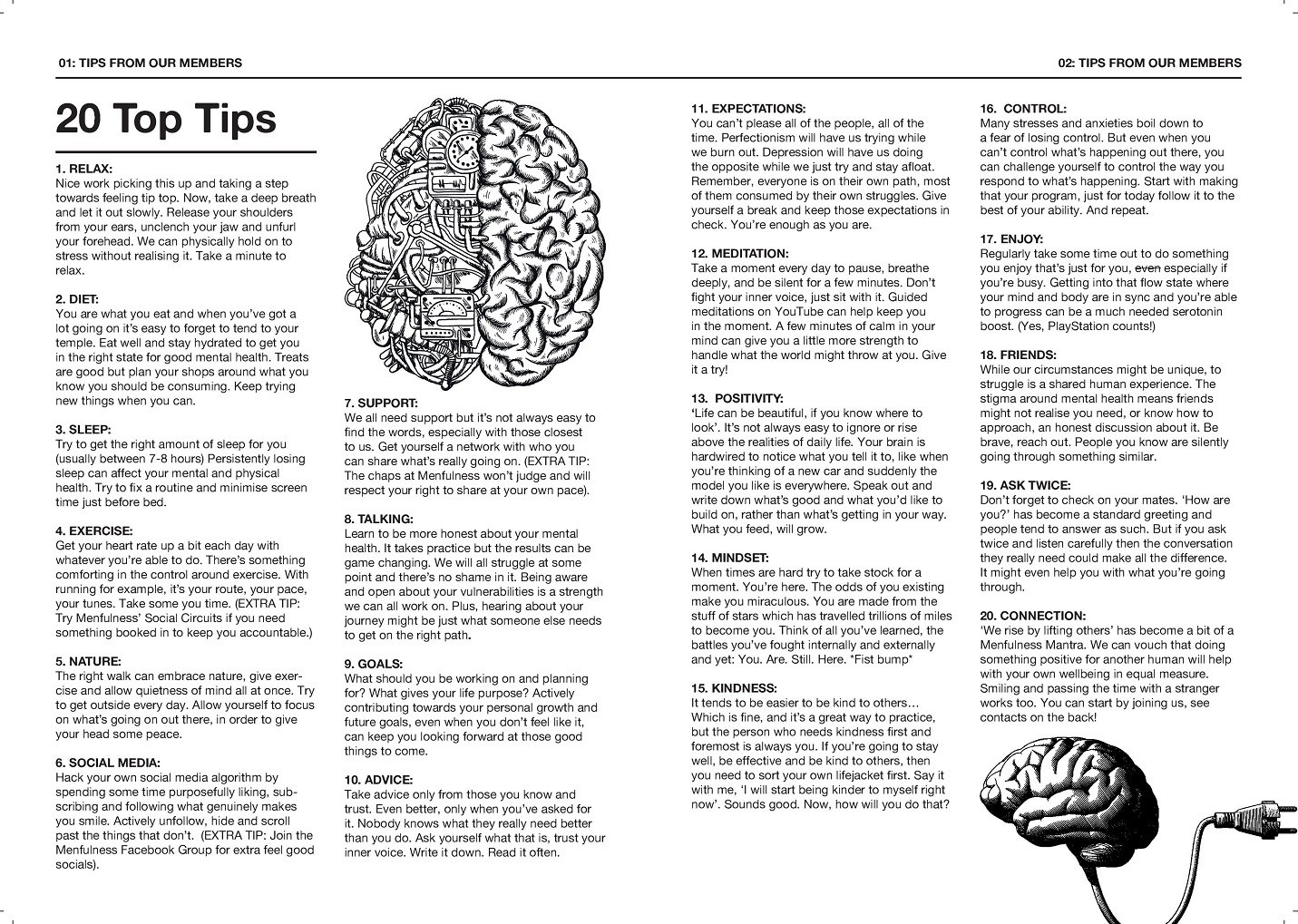 Menfulness Manual Inner - 20 top tips for wellbeing